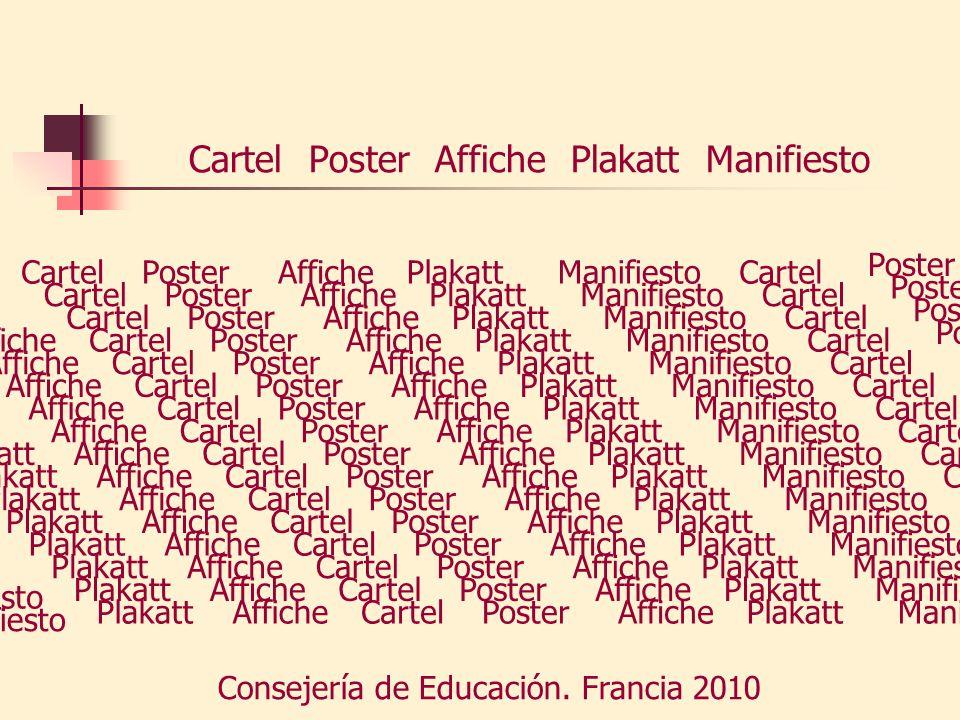 Cartel Poster Affiche Plakatt Manifiesto Poster Affiche Plakatt Manifiesto Cartel Poster Affiche Plakatt Manifiesto Consejería de Educación. Francia 2