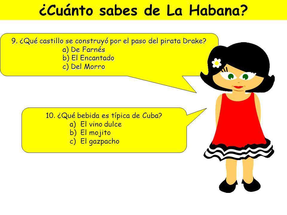 No te vayas de La Habana sin … … probar platos tan típicos como: El arroz a la cubana El mojito