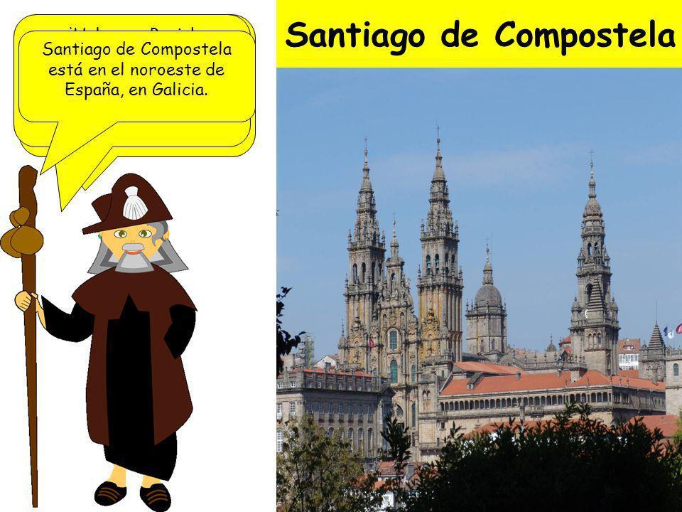 Santiago de Compostela Según la leyenda, fue fundada cuando unas estrellas señalaron la tumba del Apóstol Santiago, uno de los discípulos de Jesús.