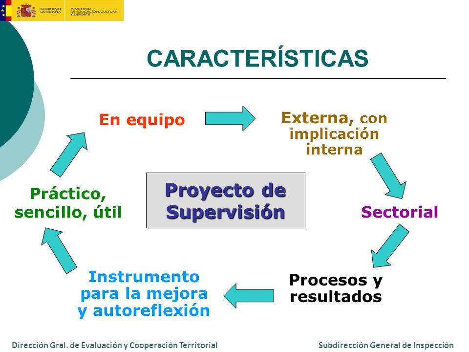 Instrumento de evaluación: escala - Dimensiones - Indicadores - Pautas de valoración Instrumentos de recogida de información: guías Instrumentos Dirección Gral.