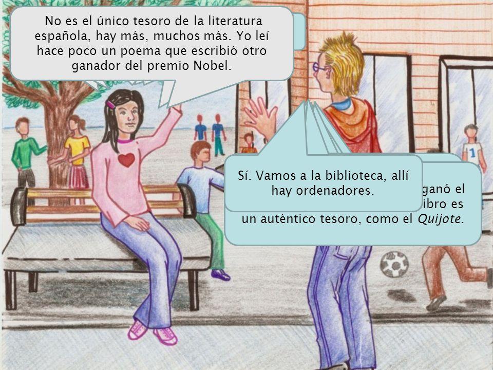 Encuentra los nombres de escritores de habla hispana ganadores del Premio Nobel de Literatura.