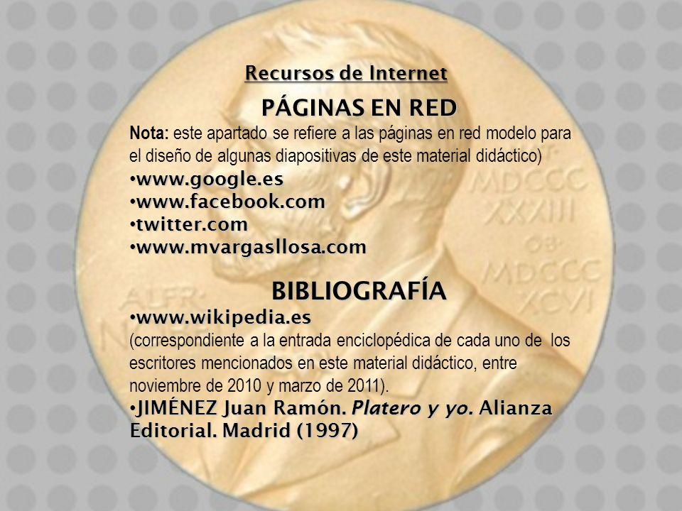 Recursos de Internet PÁGINAS EN RED Nota: este apartado se refiere a las páginas en red modelo para el diseño de algunas diapositivas de este material