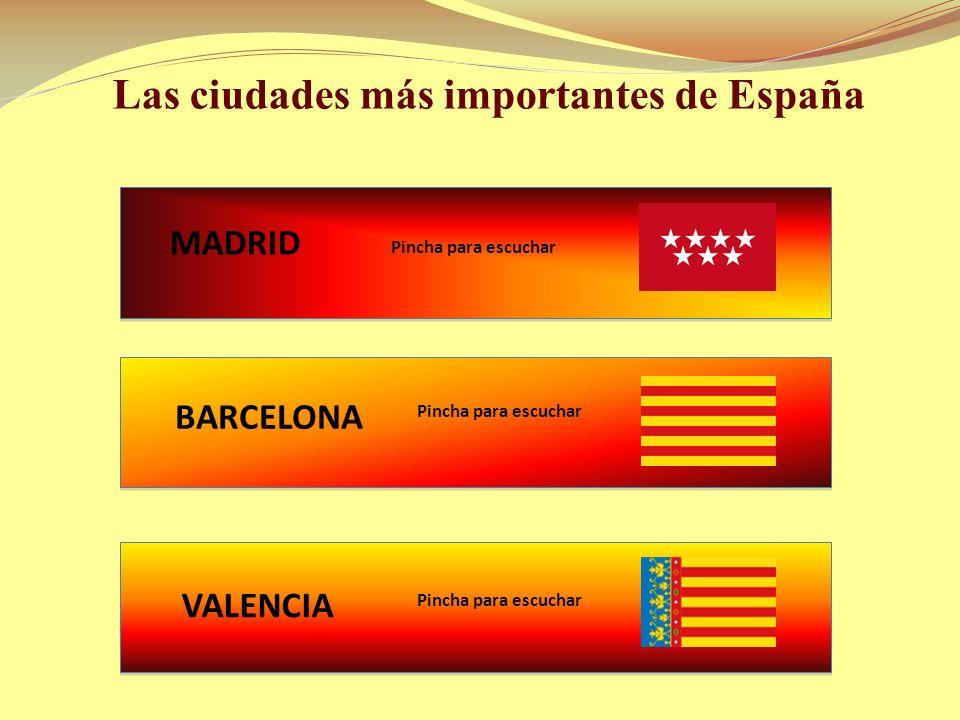 1. Las ciudades más importantes de España 1.1 Madrid 1.2 Barcelona 1.3 Valencia 2. Repoblación de los pueblos 2.1 Pueblos Abandonados 2.2 Repoblación