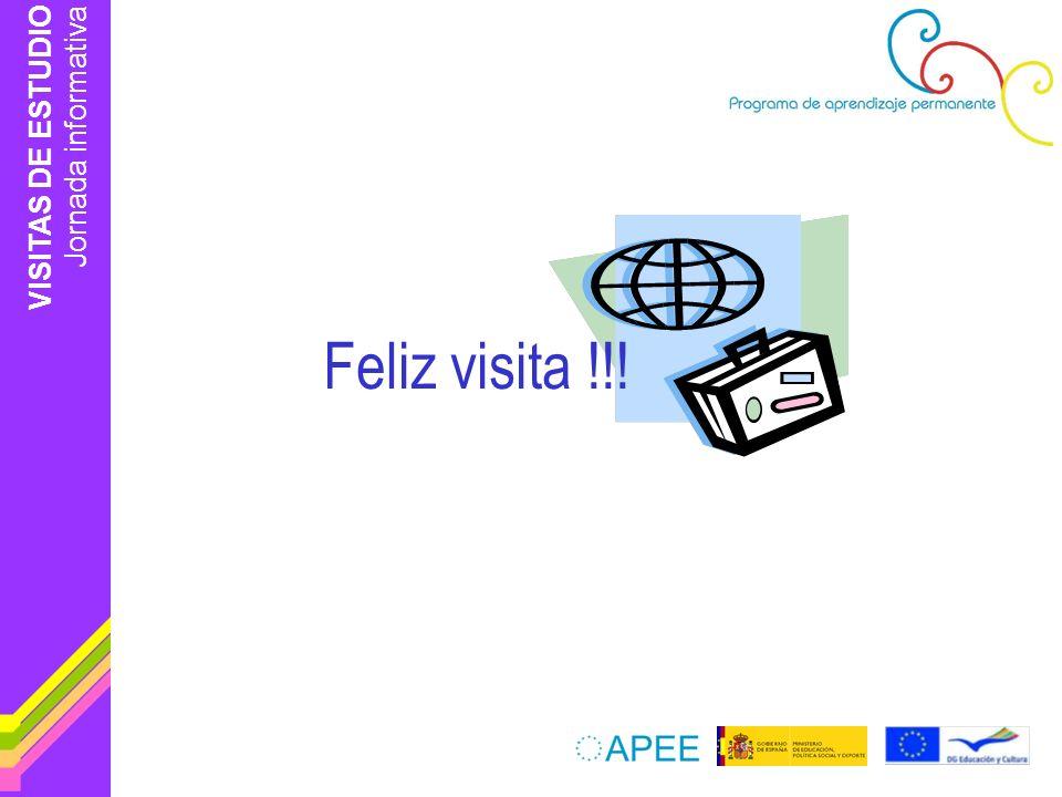 VISITAS DE ESTUDIO Jornada informativa Feliz visita !!!