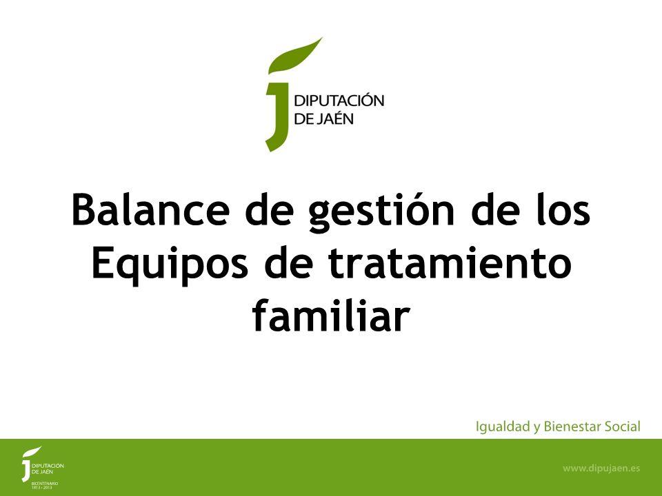 2 LOS EQUIPOS DE TRATAMIENTO FAMILIAR DE LA DIPUTACIÓN DE JAÉN (E.T.F) Los ETF de la Diputación de Jaén comienzan su andadura en el año 2004 (se firma Convenio de colaboración con la Junta de Andalucía el 03/11/04).