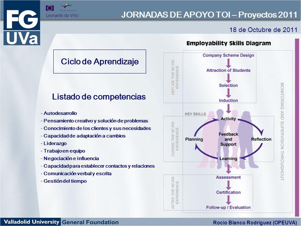 Ciclo de Aprendizaje Listado de competencias - Autodesarrollo - Pensamiento creativo y solución de problemas - Conocimiento de los clientes y sus nece