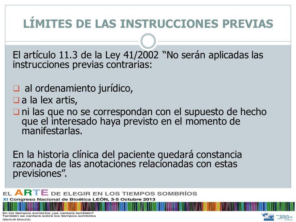 Objeción de conciencia en las instrucciones previas La Ley 41/2002 básica reguladora de la autonomía del paciente no lo regula.