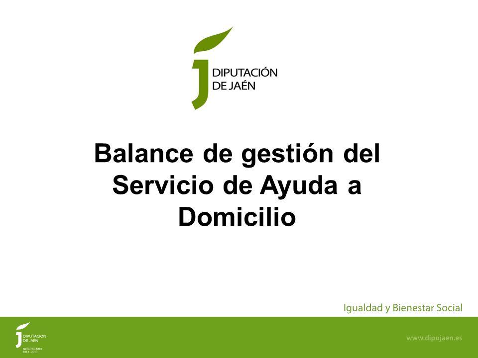 1 Balance de gestión del Servicio de Ayuda a Domicilio