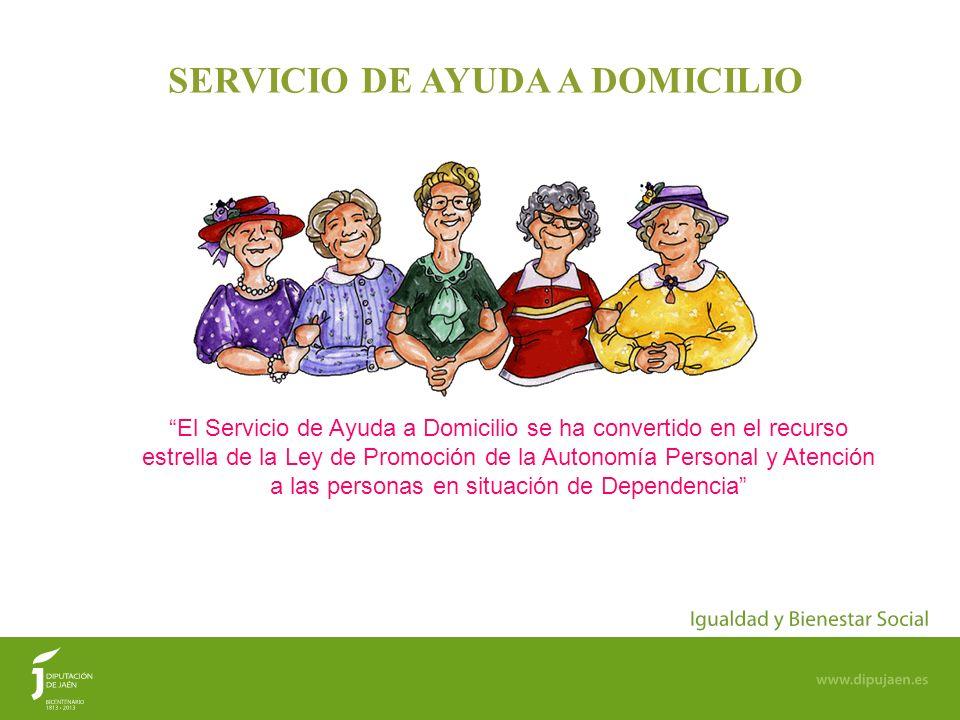 20 SERVICIO DE AYUDA A DOMICILIO El Servicio de Ayuda a Domicilio se ha convertido en el recurso estrella de la Ley de Promoción de la Autonomía Perso