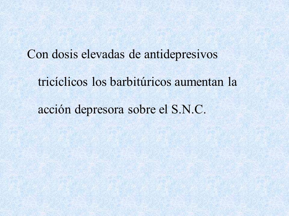 Potencia los efectos depresores del alcohol, hipnóticos, tranquilizantes y opiáceos. Por inducción Enz. aumenta biotransf. y reduce los niveles plasmá