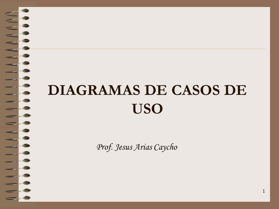 1 DIAGRAMAS DE CASOS DE USO Prof. Jesus Arias Caycho