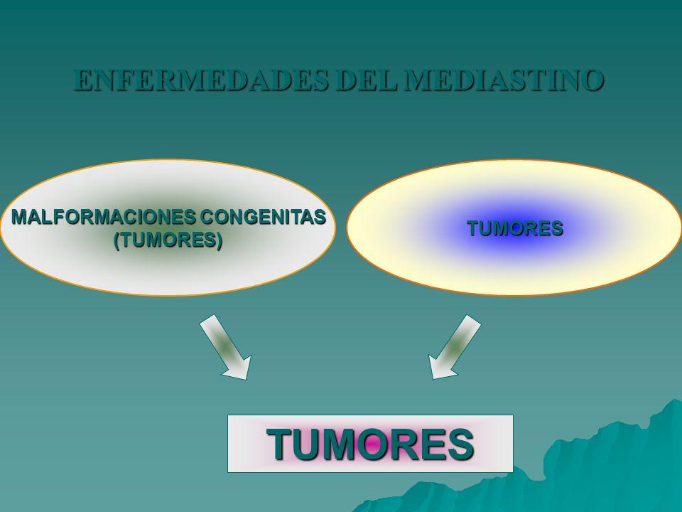 ENFERMEDADES DEL MEDIASTINO MALFORMACIONES CONGENITAS (TUMORES)TUMORES TUMORES