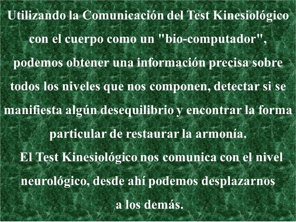 Utilizando la Comunicación del Test Kinesiológico con el cuerpo como un