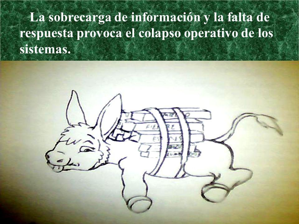 La sobrecarga de información y la falta de respuesta provoca el colapso operativo de los sistemas.
