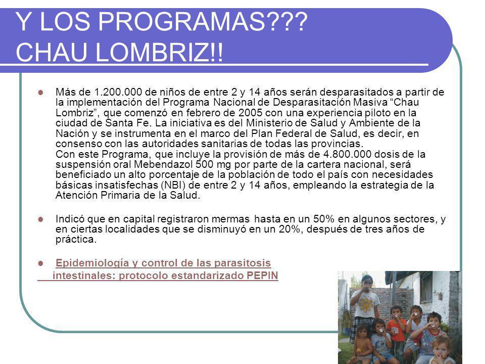 Y LOS PROGRAMAS??.CHAU LOMBRIZ!.