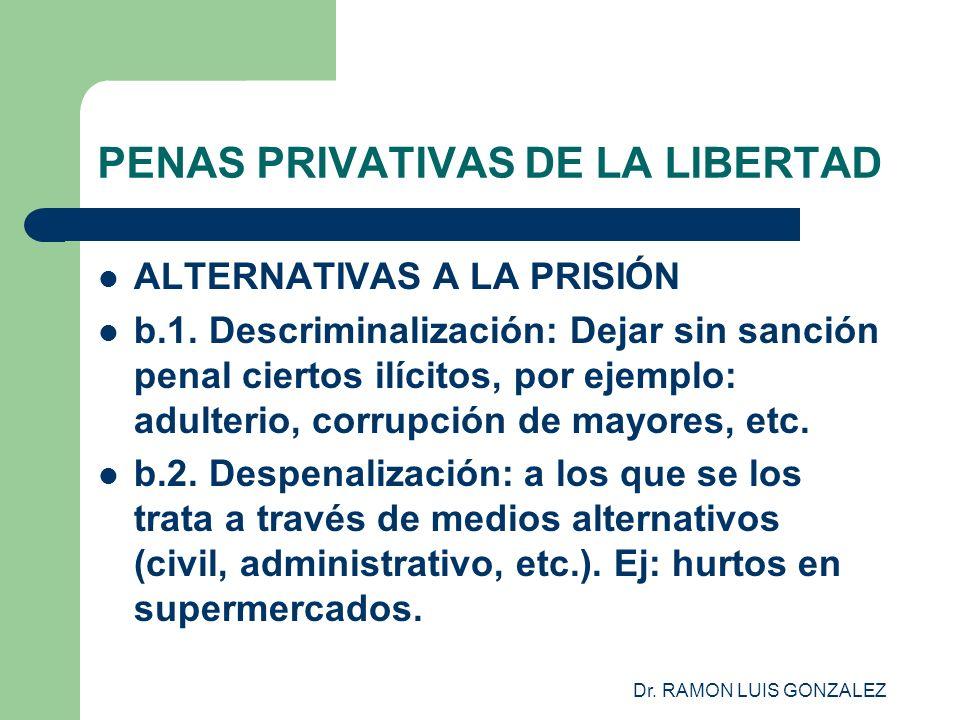 Dr.RAMON LUIS GONZALEZ PENAS PRIVATIVAS DE LA LIBERTAD ALTERNATIVAS A LA PRISIÓN b.3.