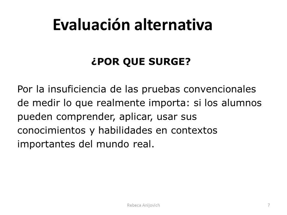 Evaluación alternativa ¿POR QUE SURGE.