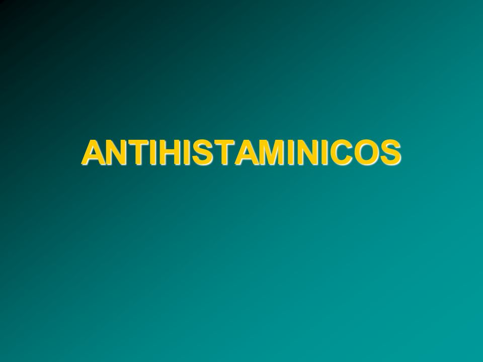 Antagonistas H 1 : diferencias!!!.
