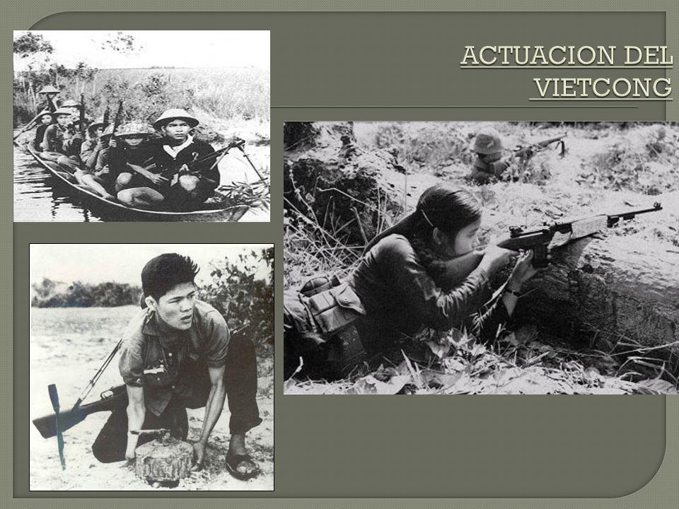 El Gobierno Provisional de la República de Vietnam del Sur aprendió pronto lo mortífero de la potencia de fuego estadounidense y decidió emplear la guerra de guerrillas con pequeños golpes pero de gran contundencia.