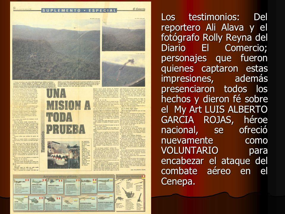 Los testimonios: Del reportero Ali Alava y el fotógrafo Rolly Reyna del Diario El Comercio; personajes que fueron quienes captaron estas impresiones,