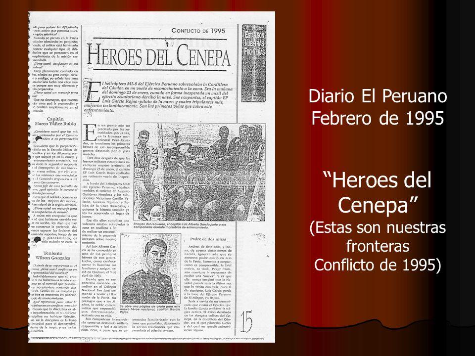 Diario El Peruano Febrero de 1995 Heroes del Cenepa (Estas son nuestras fronteras Conflicto de 1995)