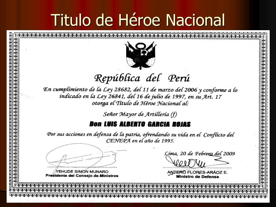 Titulo de Héroe Nacional