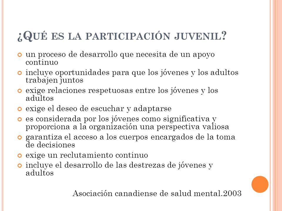 I NTRODUCCIÓN UD N º 2 ¿Cómo involucrar a los jóvenes en la participación.
