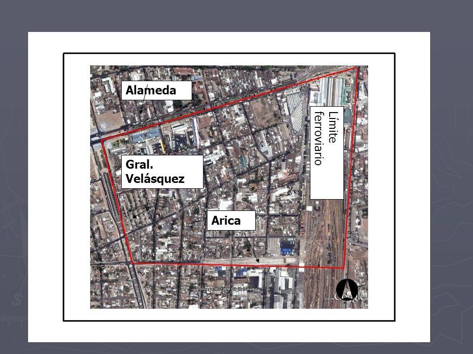 Alameda Gral. Velásquez Arica Límite ferroviario