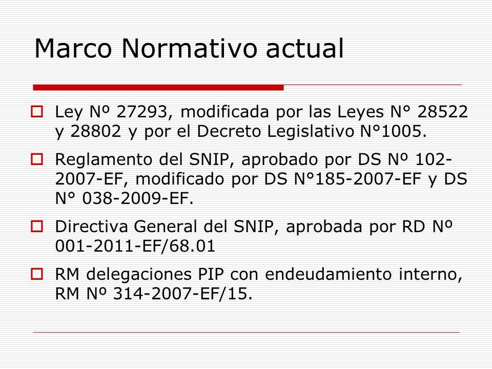 Fuente: Banco de Proyectos, DGPM-MEF Proyección 2009.