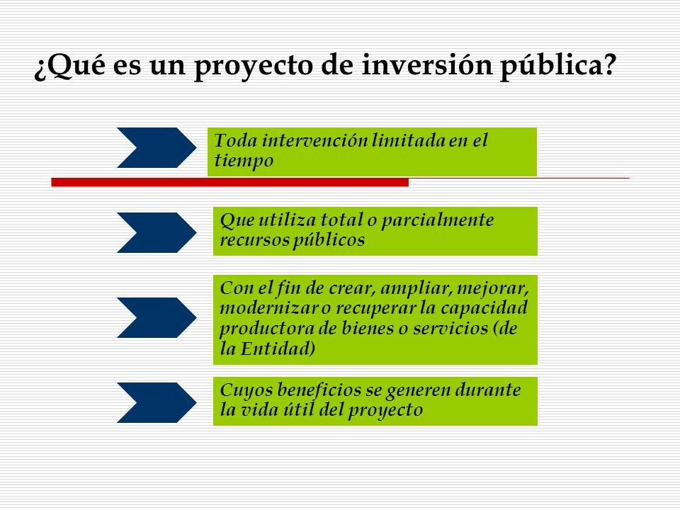 Toda intervención limitada en el tiempo Que utiliza total o parcialmente recursos públicos Con el fin de crear, ampliar, mejorar, modernizar o recuper