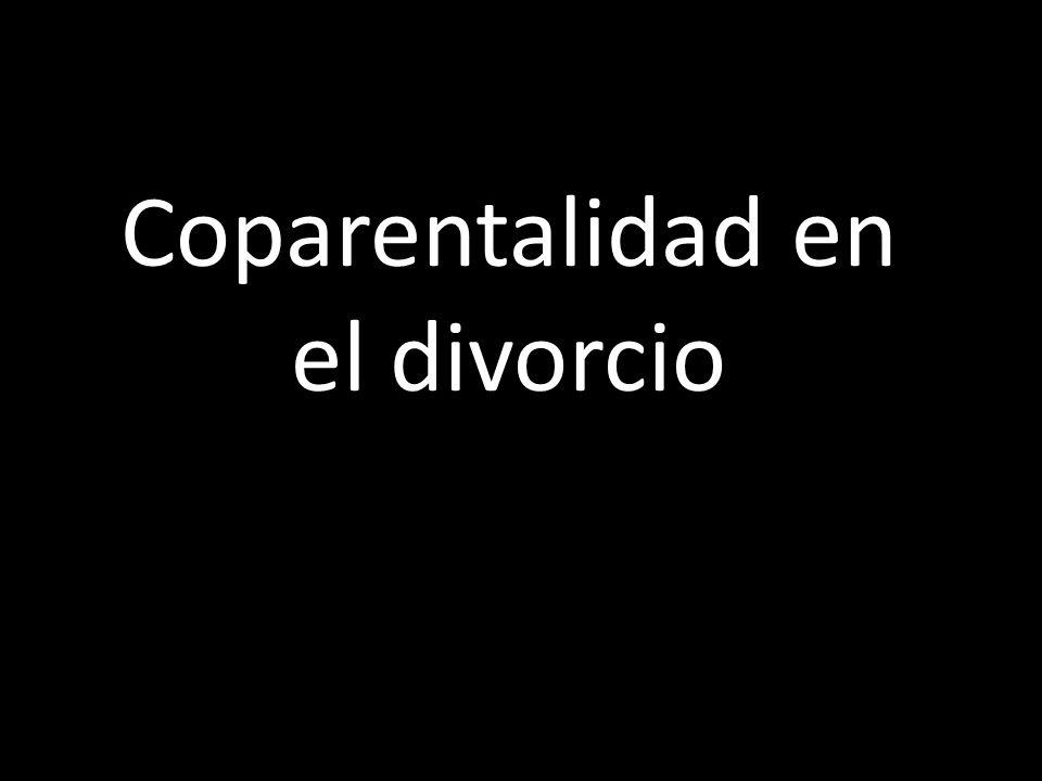 Coparentalidad en el divorcio