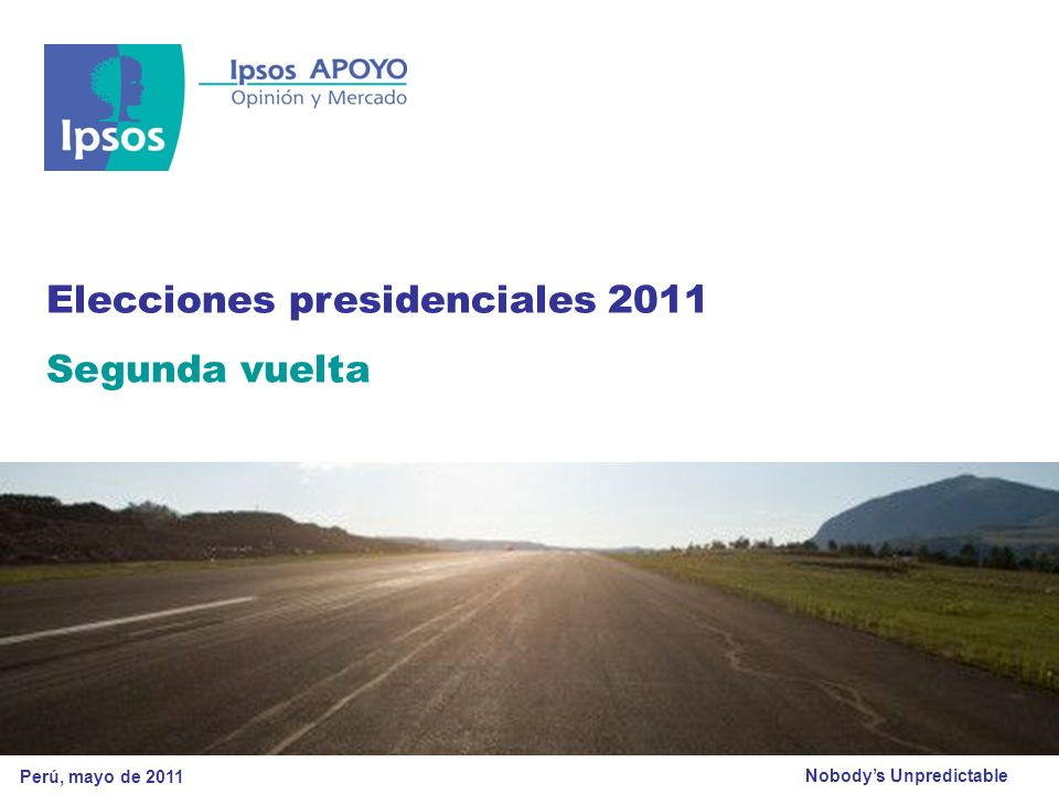 © 2011 Ipsos APOYO Ejemplar exclusivo para Morgan Stanley 12 © 2011 Ipsos APOYO – Todos los derechos reservados.