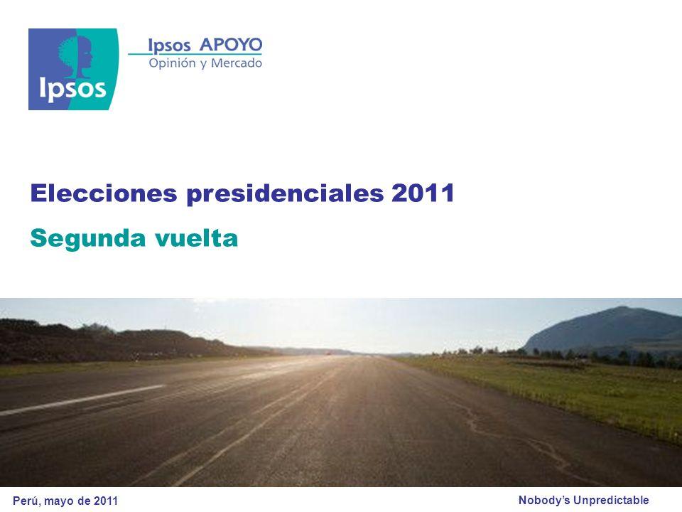 Nobodys Unpredictable Elecciones presidenciales 2011 Segunda vuelta Perú, mayo de 2011