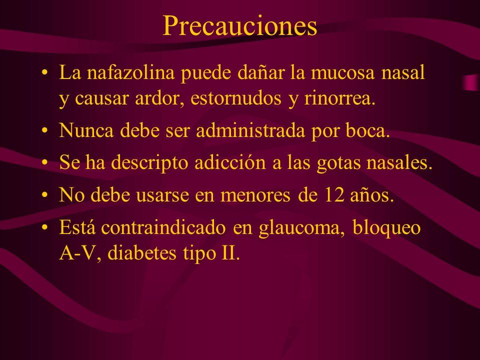 Contraindicaciones Hipertensión arterial severa.Pacientes que están recibiendo IMAO.