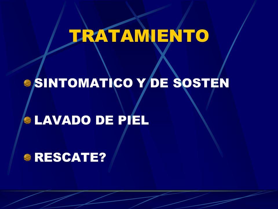 TRATAMIENTO SINTOMATICO Y DE SOSTEN LAVADO DE PIEL RESCATE?