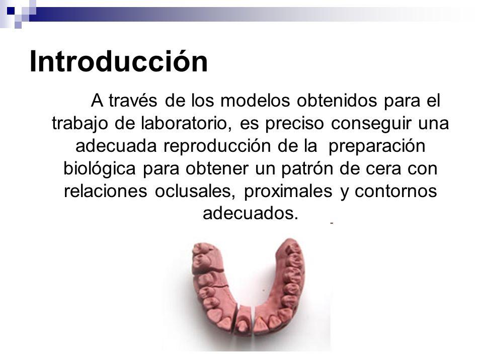 Introducción A través de los modelos obtenidos para el trabajo de laboratorio, es preciso conseguir una adecuada reproducción de la preparación biológ