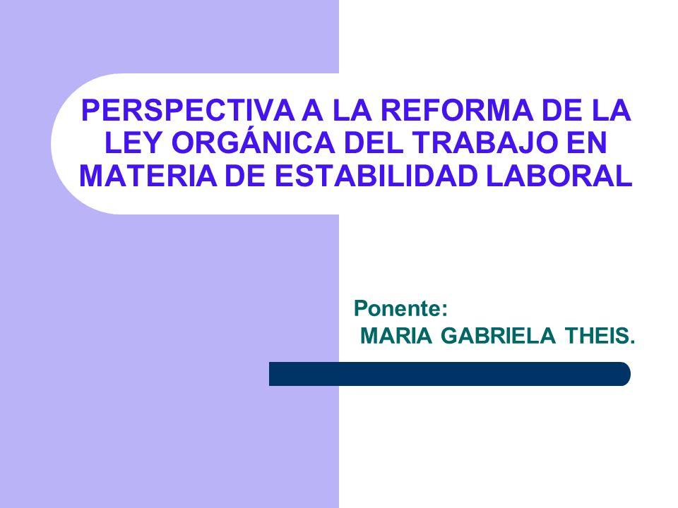CONSTITUCION DE LA REPUBLICA BOLIVARIANA DE VENEZUELA Artículo 93.- La Ley garantizará la estabilidad en el trabajo y dispondrá de lo conducente para limitar toda forma de despido no justificado.