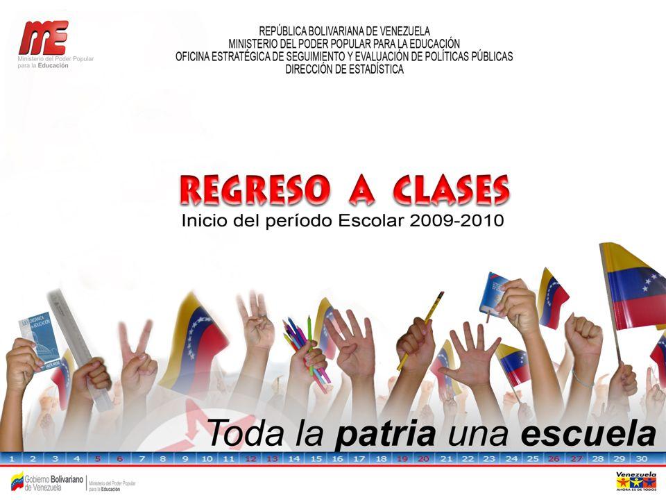 TASA DE PROSECUCIÓN DE EDUCACIÓN PRIMARIA Y SECUNDARIA PERÍODO 1998/99– 2008/09 FUENTE: MPPE – DIRECCIÓN DE ESTADÍSTICA *Cifras preliminares sujetas a modificación.