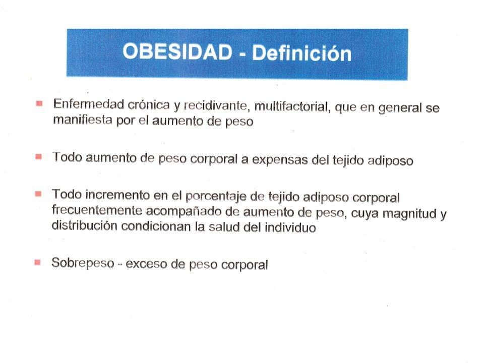 Fisiopatología Alteraciones primarias Obesidad central (grasa intraabdominal visceral y SC) El exceso adipocitario puede ser por: 1)Hiperplasia: aumento del número de células, (ob infanto juvenil), en general no se asocia a SM.