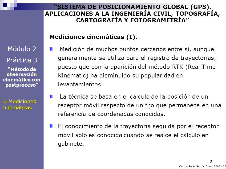 2 Carlos Soler García. Curso 2005 / 06 SISTEMA DE POSICIONAMIENTO GLOBAL (GPS). APLICACIONES A LA INGENIERÍA CIVIL, TOPOGRAFÍA, CARTOGRAFÍA Y FOTOGRAM