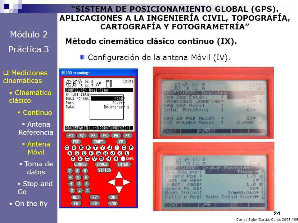 24 Carlos Soler García. Curso 2005 / 06 SISTEMA DE POSICIONAMIENTO GLOBAL (GPS). APLICACIONES A LA INGENIERÍA CIVIL, TOPOGRAFÍA, CARTOGRAFÍA Y FOTOGRA