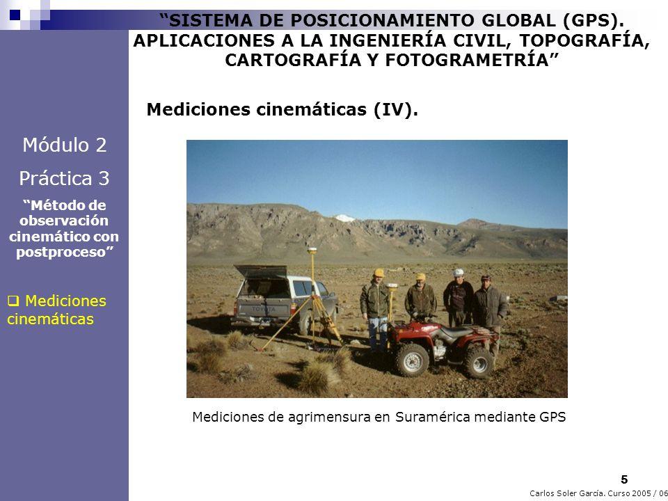 6 Carlos Soler García.Curso 2005 / 06 SISTEMA DE POSICIONAMIENTO GLOBAL (GPS).