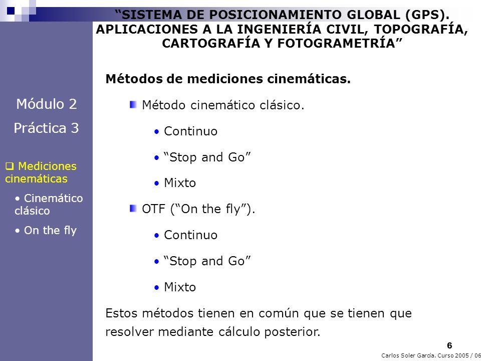 27 Carlos Soler García.Curso 2005 / 06 SISTEMA DE POSICIONAMIENTO GLOBAL (GPS).