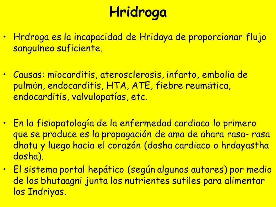 Hridroga Hrdroga es la incapacidad de Hridaya de proporcionar flujo sangu í neo suficiente.