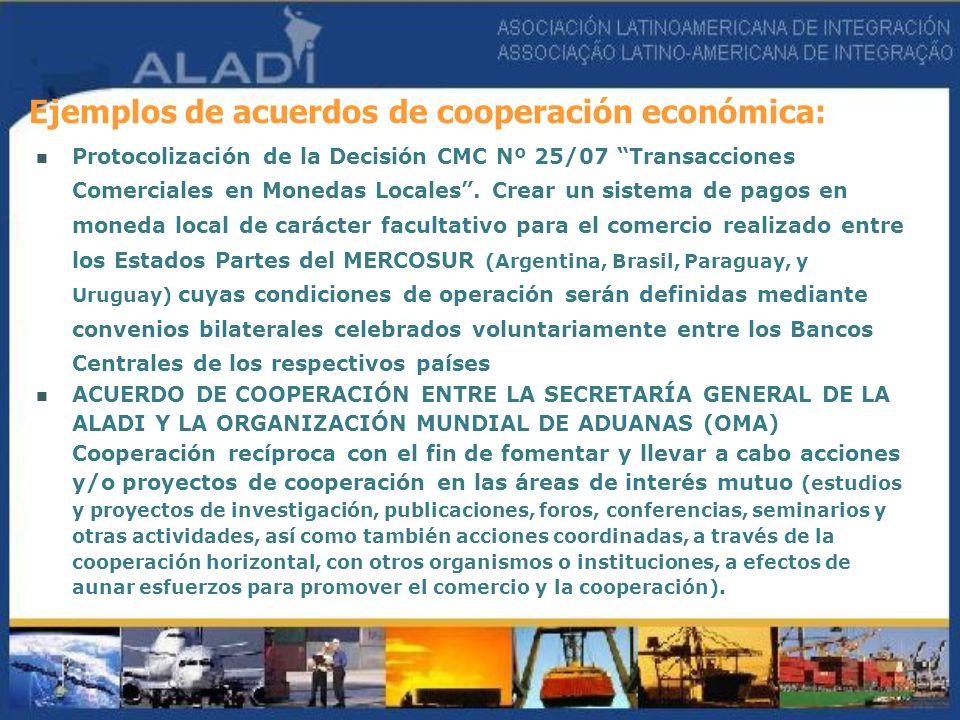 Protocolización de la Decisión CMC Nº 25/07 Transacciones Comerciales en Monedas Locales. Crear un sistema de pagos en moneda local de carácter facult