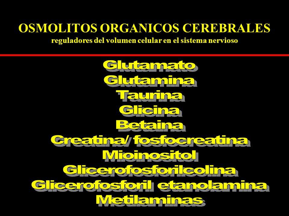 OSMOLITOS ORGANICOS CEREBRALES reguladores del volumen celular en el sistema nervioso