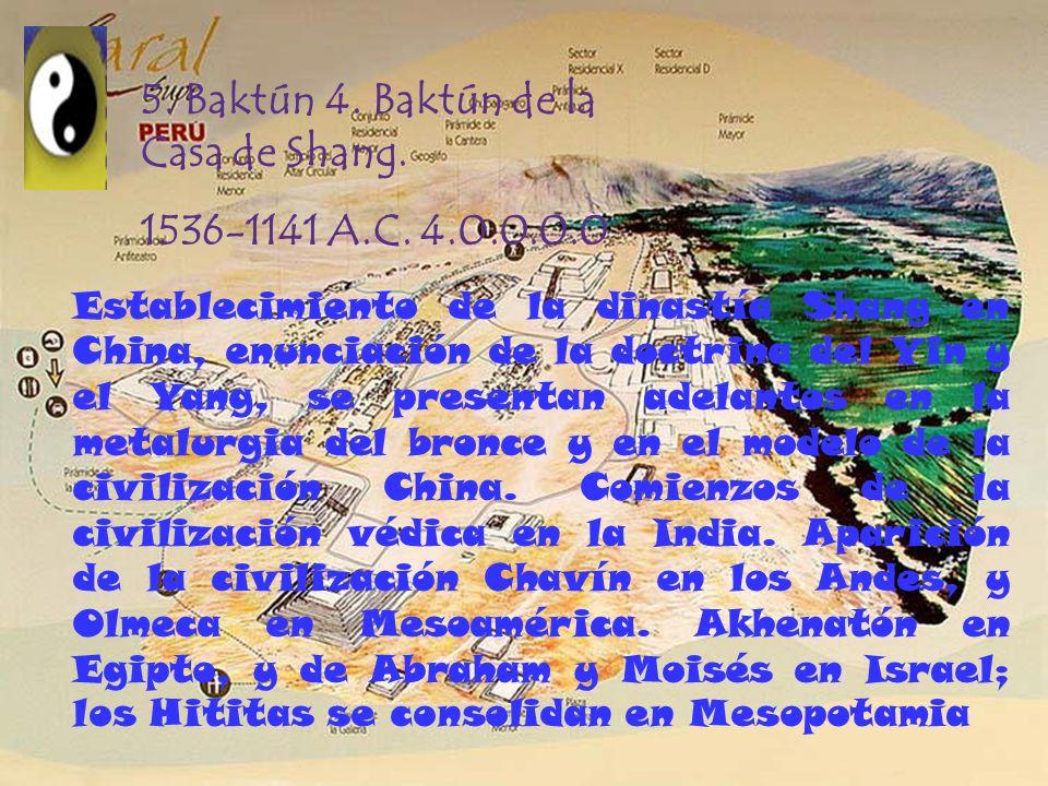 4. Baktún 3. Baktún de la Montaña Sagrada. 1930-1536 A.C. 3.0.0.0.0 Surgen los reinos Medio y Nuevo en Egipto; la re- ubicación del centro en la Monta