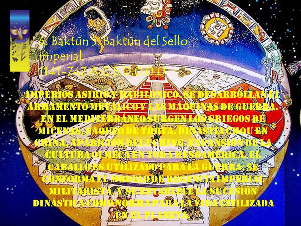 5. Baktún 4. Baktún de la Casa de Shang. 1536-1141 A.C. 4.0.0.0.0 Establecimiento de la dinastía Shang en China, enunciación de la doctrina del Yin y