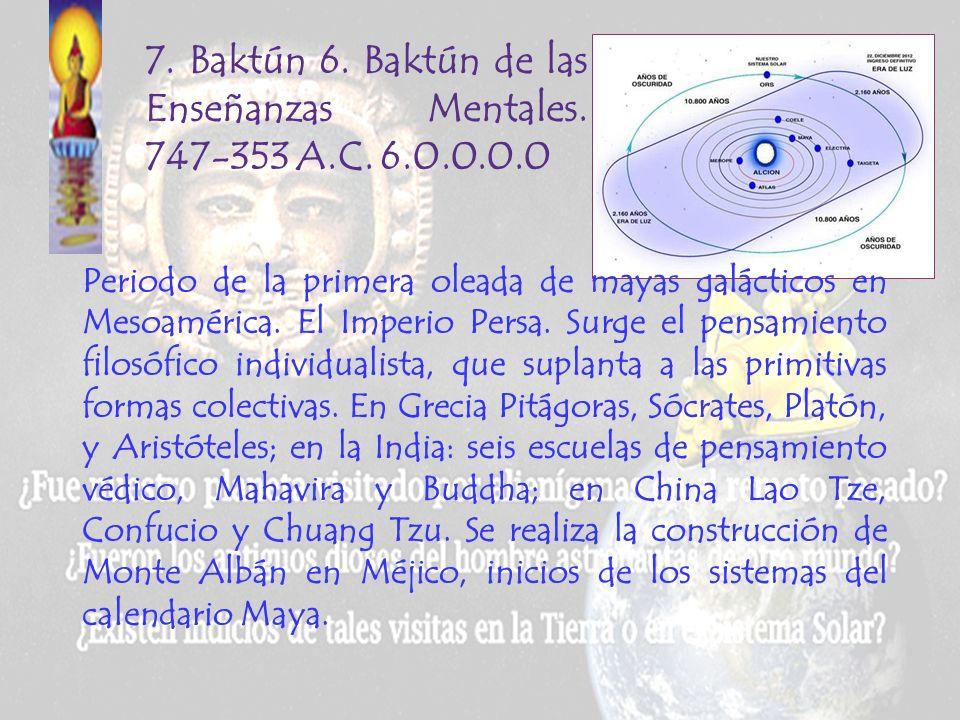 6. Baktún S. Baktún del Sello imperial. 1141-747 A.C.5.0.0.0.0 Imperios Asirio y Babilónico. Se desarrollan el armamento metálico y las máquinas de gu