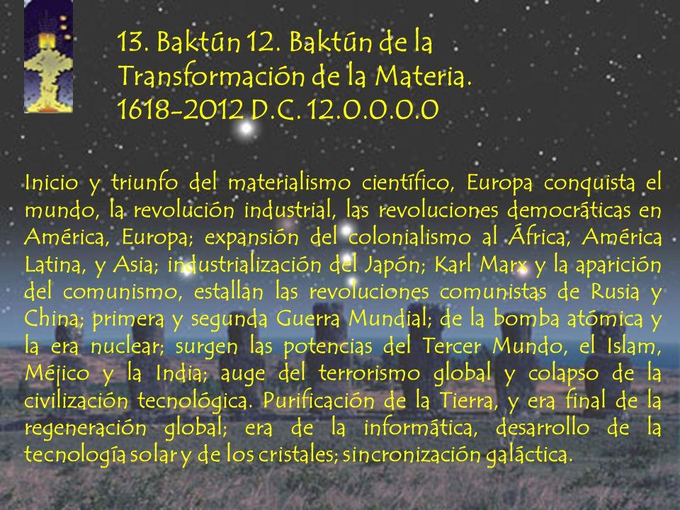 12. Baktún 11. Baktún de la Semilla Oculta. 1224-1618 D.C. 11.0.0.0.0 Expansión del Islam a la India, al Asia Central y Suroriental, y al África Occid
